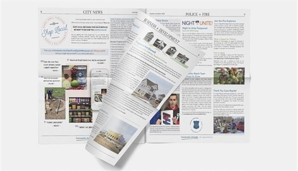 Open city newsletter with page turning