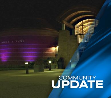 Photo of City Hall with Purple Lights