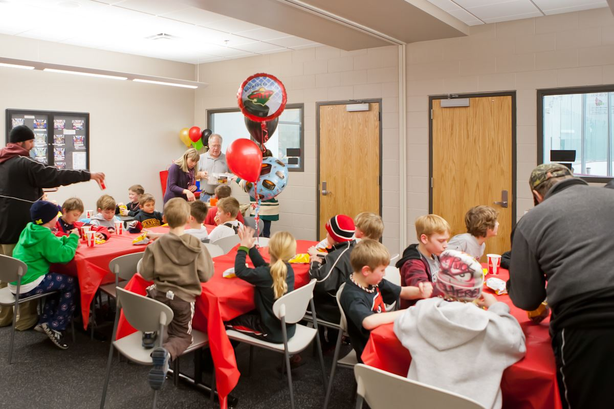 Kids birthday party at the Coon Rapids Ice Center